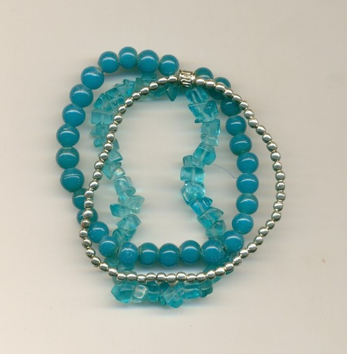 metal glass beads combo Necklace