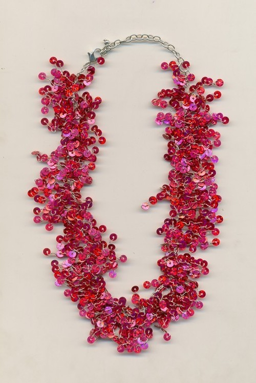 metal sequence combo Necklace