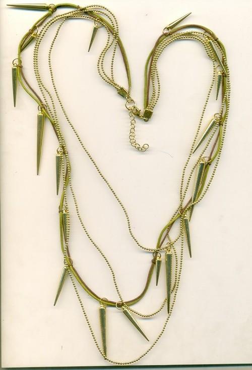 gold metal design Necklace