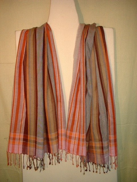 Cotton Self Striped Scarves