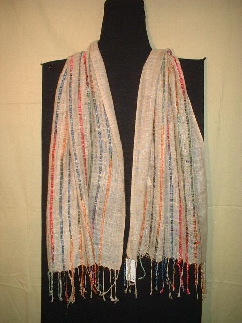 Rayon Striped Fancy Scarves