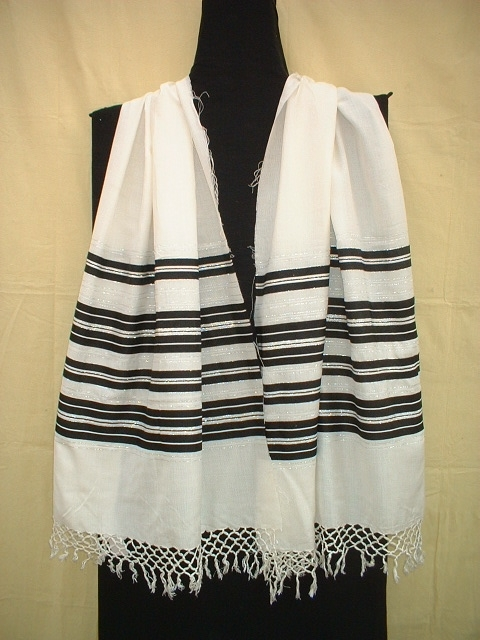 Cotton Border Striped Scarves