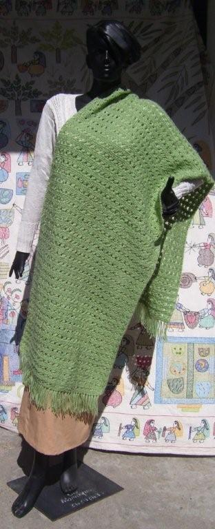 Cotton hand knitted scarves
