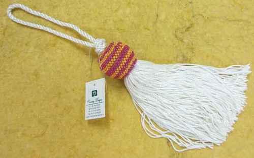 glass beads yarn combo  tassel