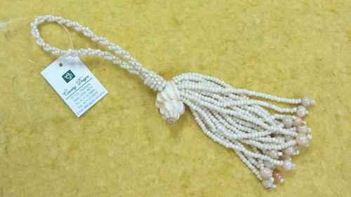 glass beads sea shell combo  tassel