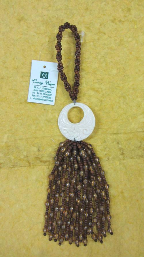 glass wooden beads mop combo  tassel