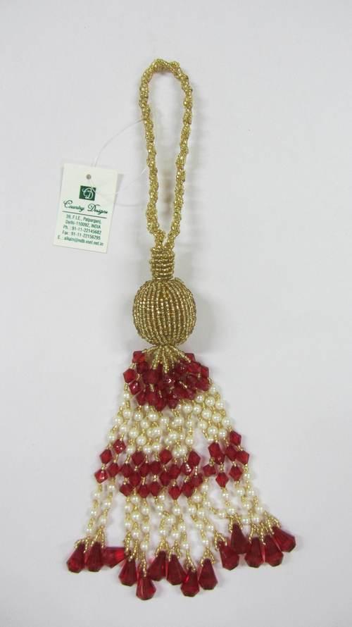 glass plastic acrylic beads tassel