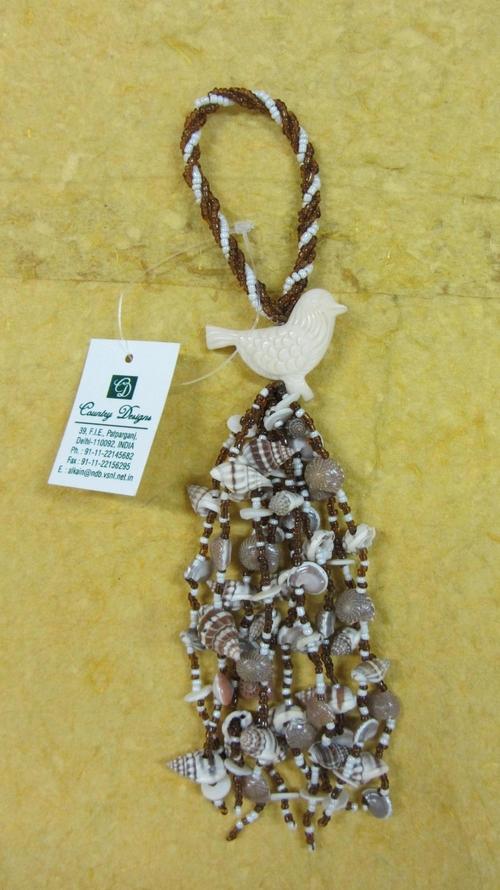 glass beads sea shells mop tassel