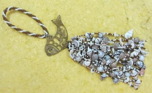 metal glass beads sea shells tassel