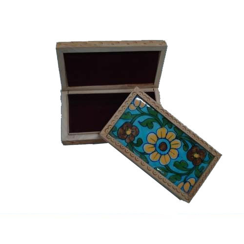 Floral Printed Wooden Boxes