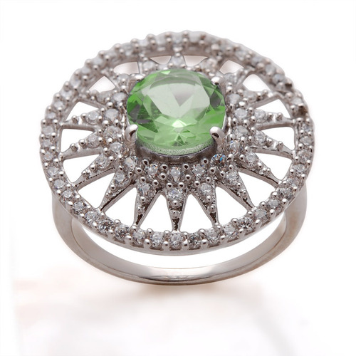 large round ring design for women, partywear silver jewelry manufacturer