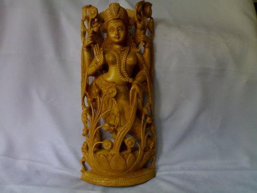 Wooden carved Laksmi