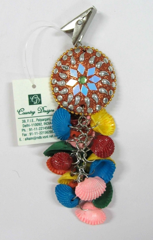 decorated sea shells glass beads metal tc weight