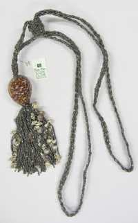 sea shells glass beads combo  tie back