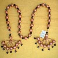 metal glass beads combo  tie back