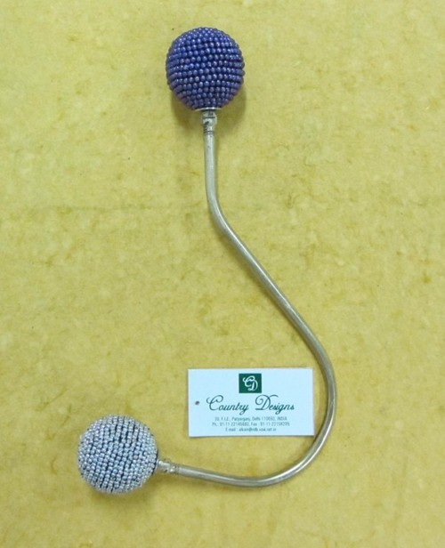 wall hook metal glass beads combo