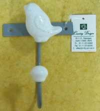 metal with ceramic combo wall hook