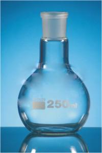Flasks Flat Bottom, Single neck DIN 12348 Medium