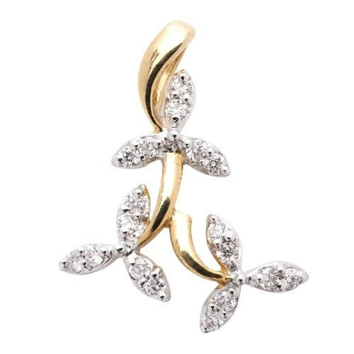 3 Petals Diamond Pendant