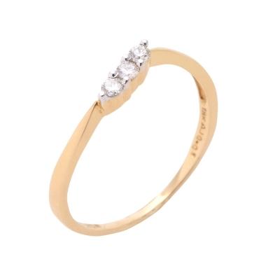 3 Diamond Everyday Wear Ring