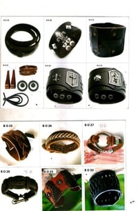 Designer Leather Bracelets