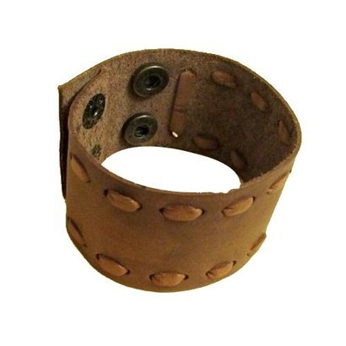 Brown Leather Cuff Bracelets