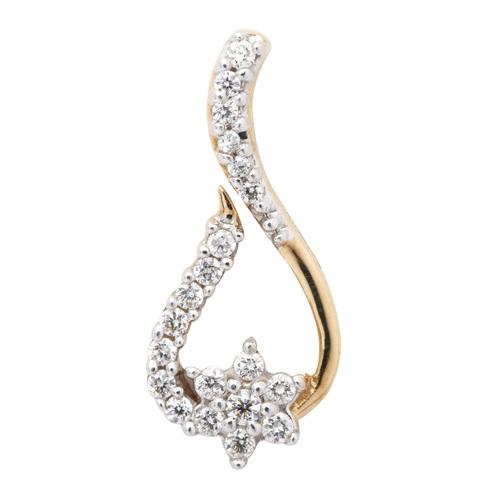 Sleek and glazing Diamond Pendant