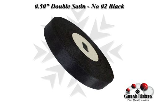 Double Satin Ribbons - Black