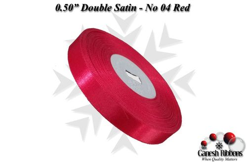 Double Face Satin - Red