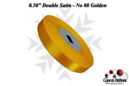 Golden Double Face Satin Ribbon