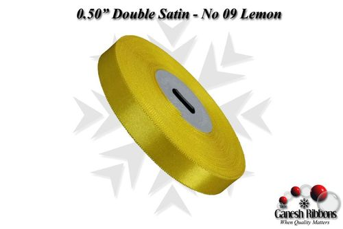 Lemon Double Face Satin