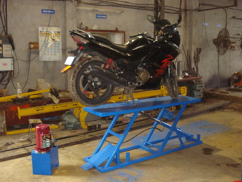 2 wheeler washing lift