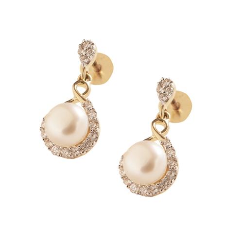 Pearl & Diamond Earring