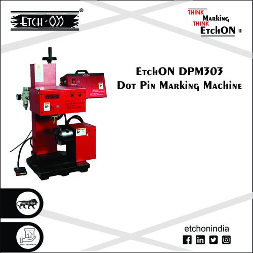 Pneumatic Dot Pin Marking Machine with Rotary, DPM303