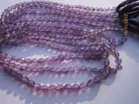 Purple Amethyst faceted  Round beads Gemstone