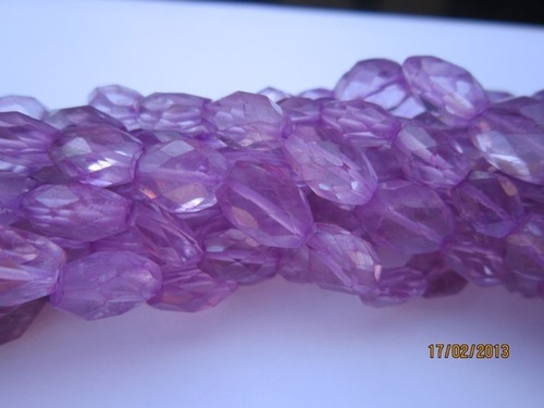 Amethyst fated Oval beads Gemstone