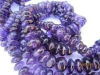 Amethyst Roundell beads Gemstone