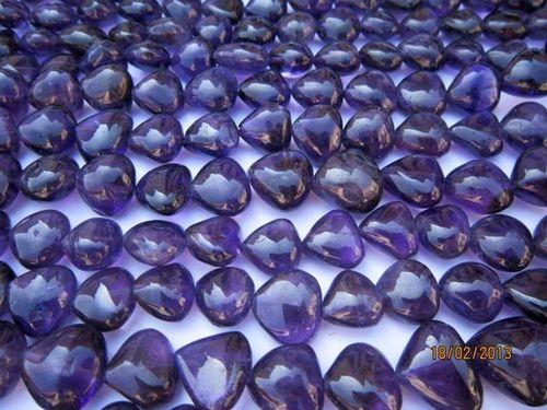 Amethyst Heart shape beads Gemstone