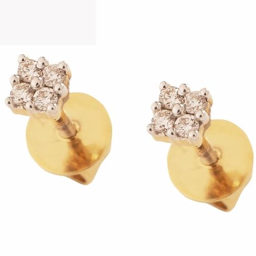 Delicate dazzling earring