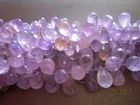 Amethyst faceted drops beads Gemstone