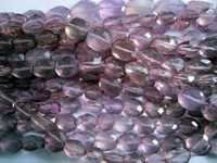 Amethyst faceted oval beads Gemstone