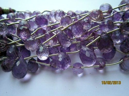 Amethyst Faceted Drops Beads