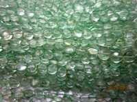 Green Amethyst Coin beads Gemstone