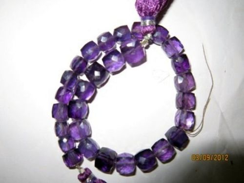 Amethyst Faceted Box beads Gemstone