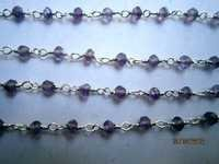 Amethyst faceted Roundell beaded chain