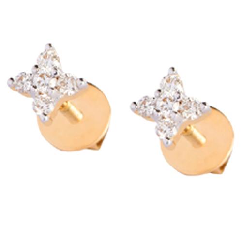 Star Shape Diamond Stud