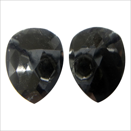 Rose Cut Fancy Black Diamond