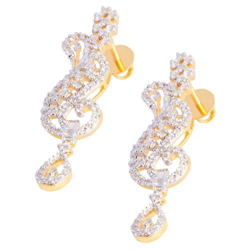 Heavy diamond earring