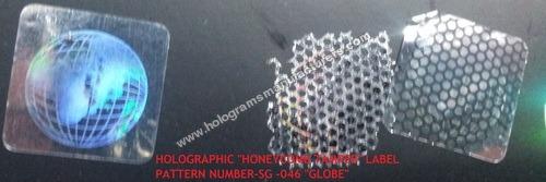 Holographic Tamper Honeycomb Label