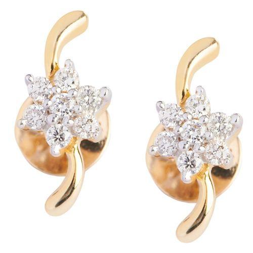S shape Floral Earring